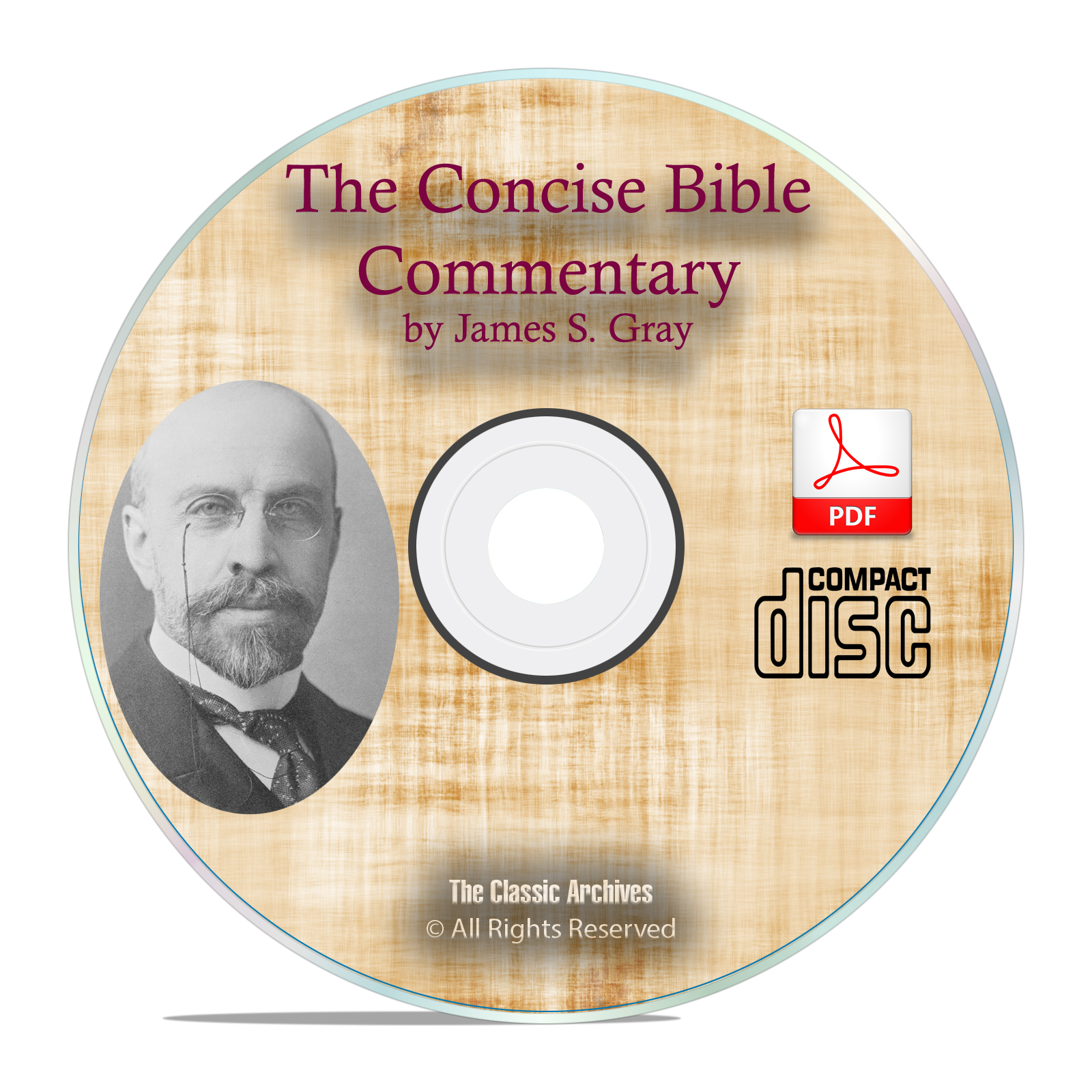 The Concise Bible Commentary, James Gray, Christian Scripture Study PDF CD