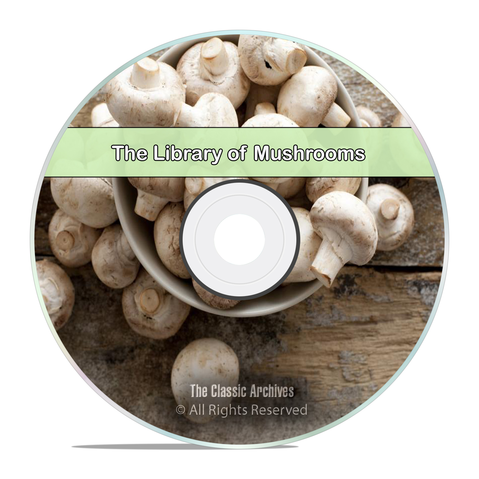 50 Books Library on Mushrooms, Fungi Spawn, How To Grow Find Edible Hunt CD