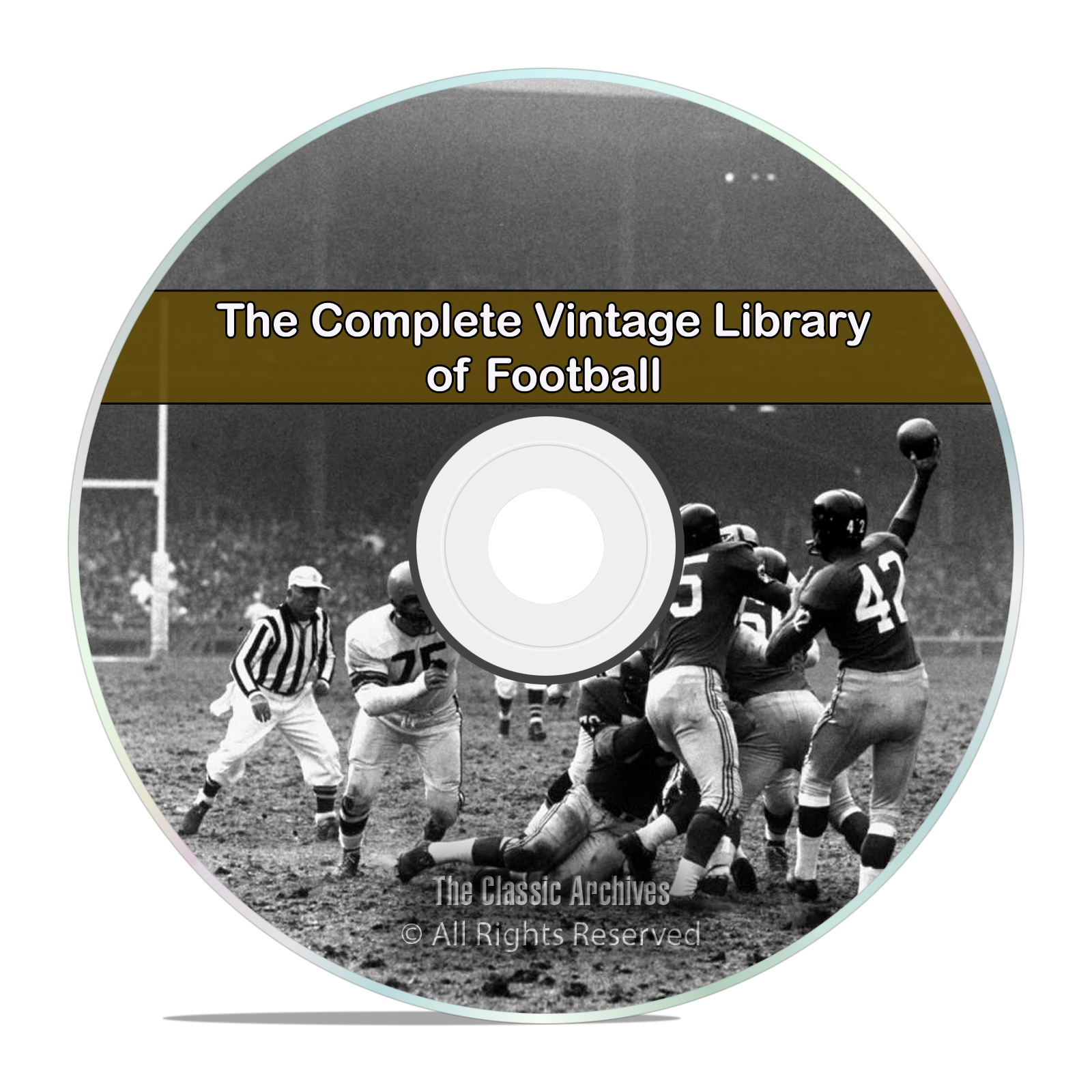 Complete Vintage Library of Football, 102 Books Spalding Guides History DVD
