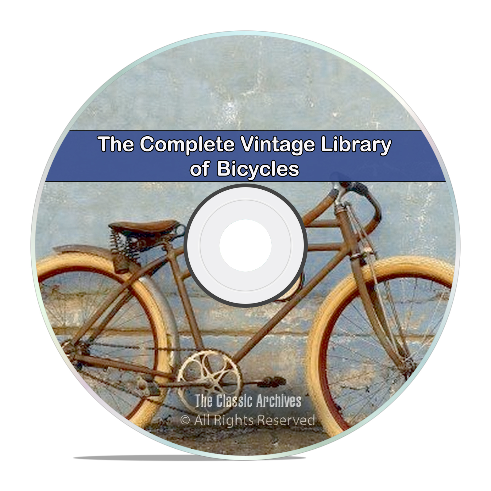Library of Vintage Bicycles, 53 Books, Tricycle, How to Build, Repair CD