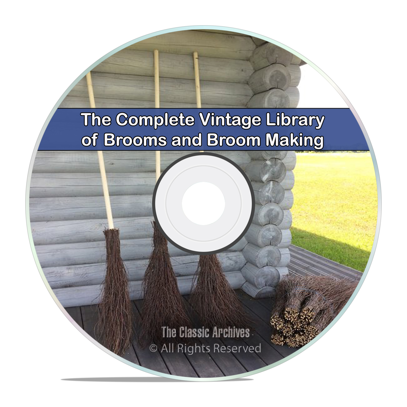 Library of Vintage Brooms, 20 Books, Harvesting Corn Bristles Broom CD