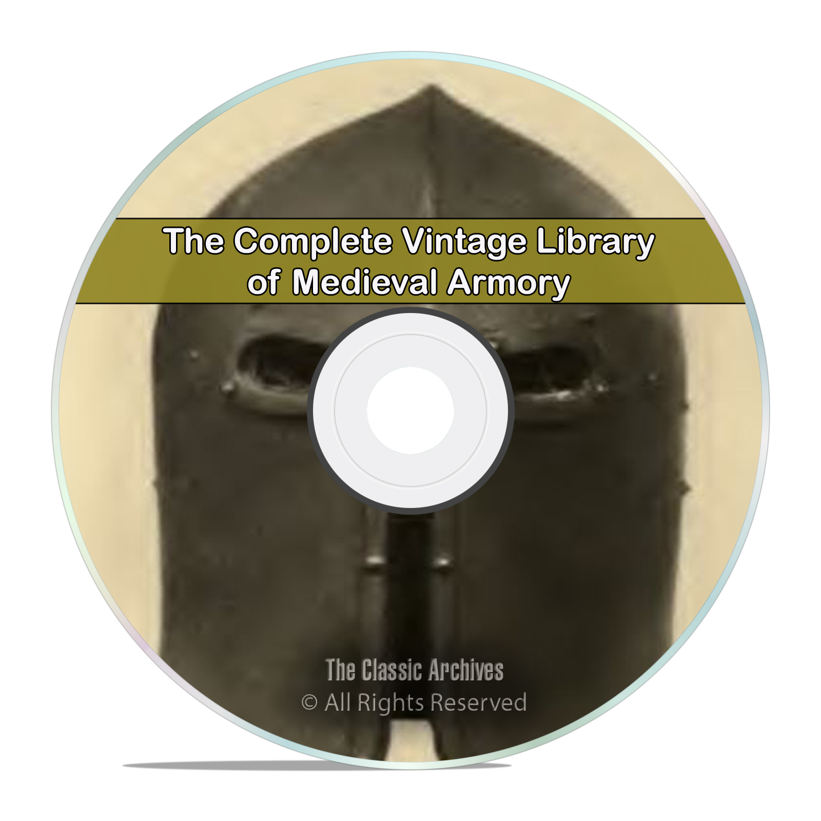80 Book Library of Medieval Armour & Weapons, Armor, Gun, Sword DVD