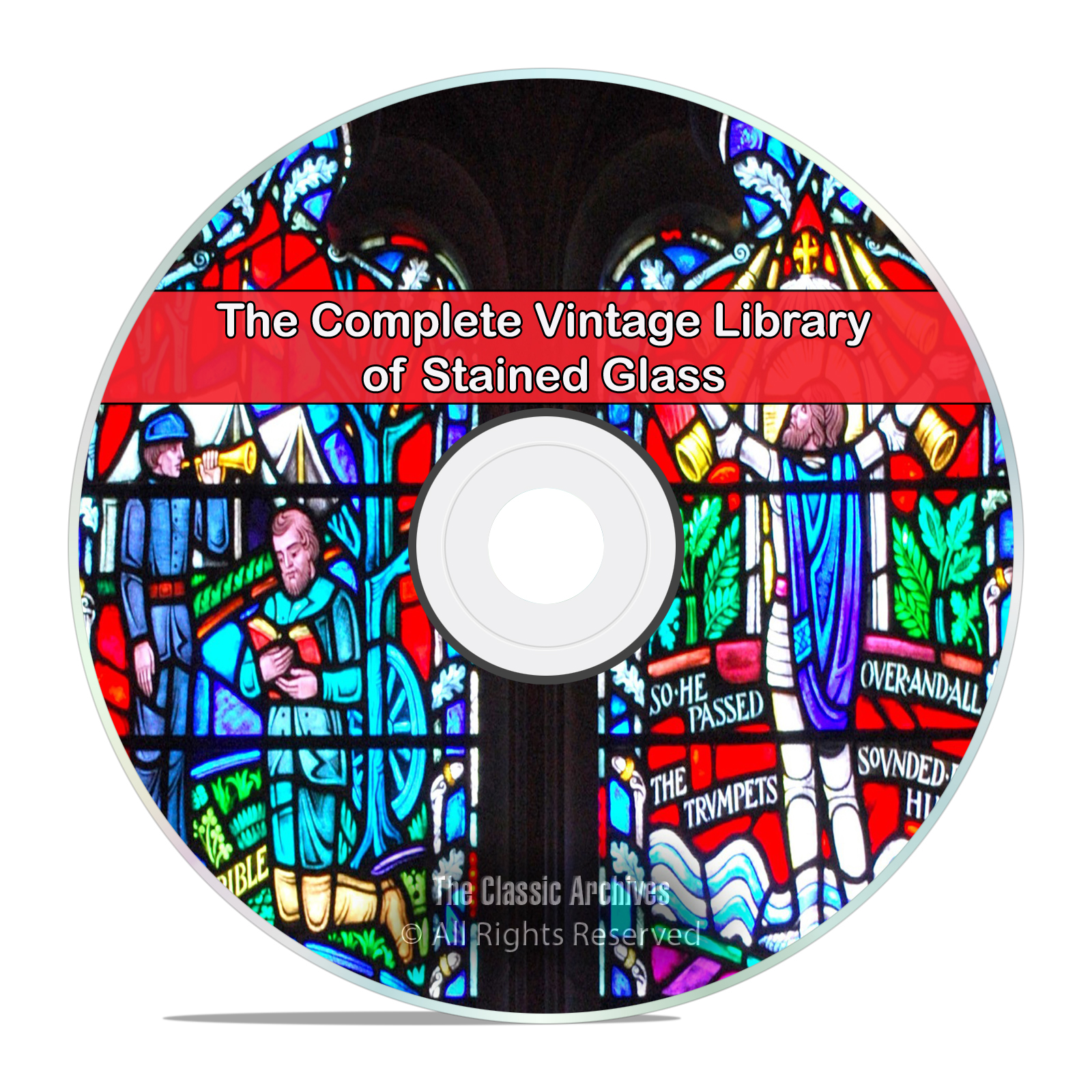 40 Books Library of Painted & Stained Glass, History, Church, Making PDF CD