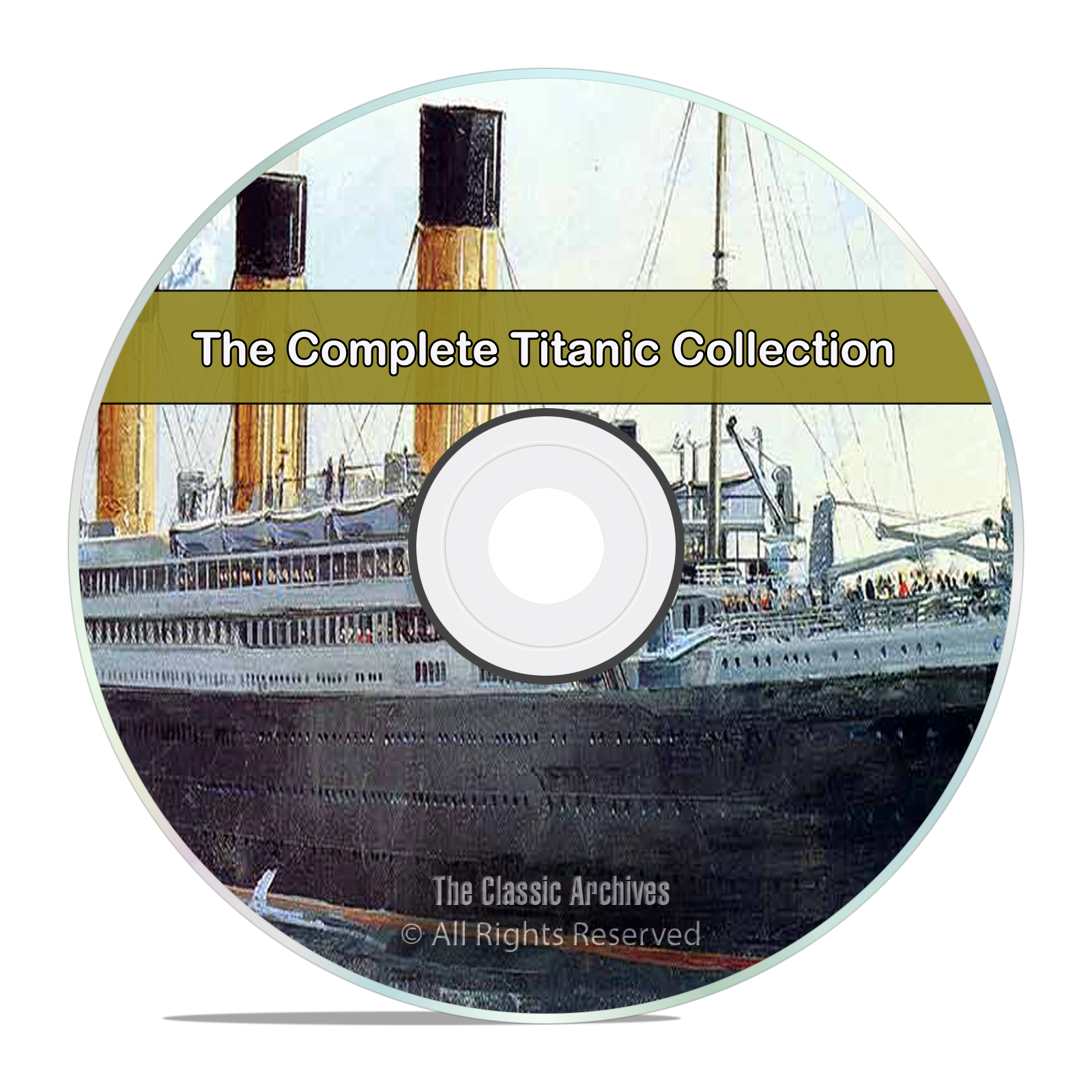 The Complete Titanic Disaster History Books Collection, 30 Books PDF CD
