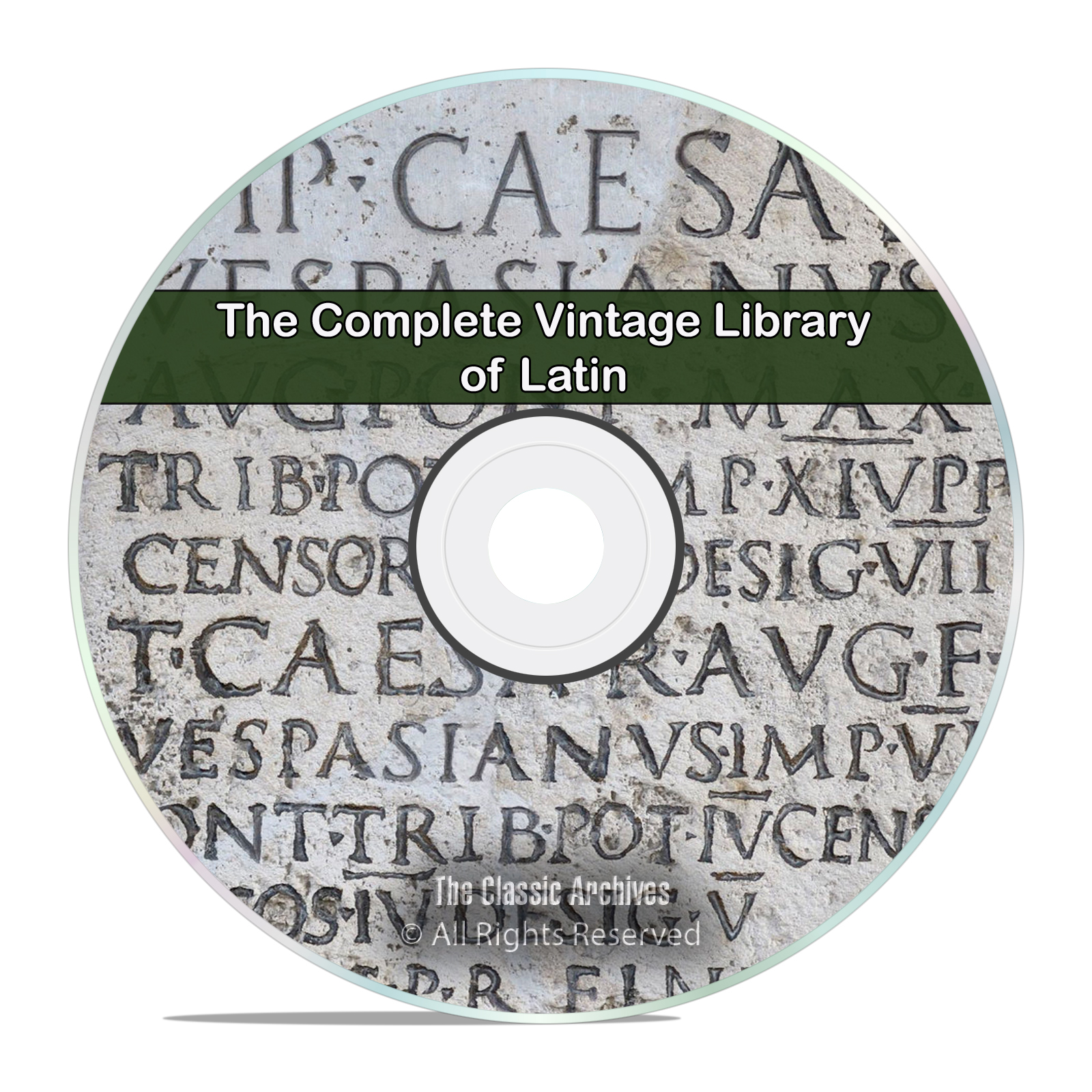 The Complete Library on Learning the Latin Language, 100 Books, PDF DVD