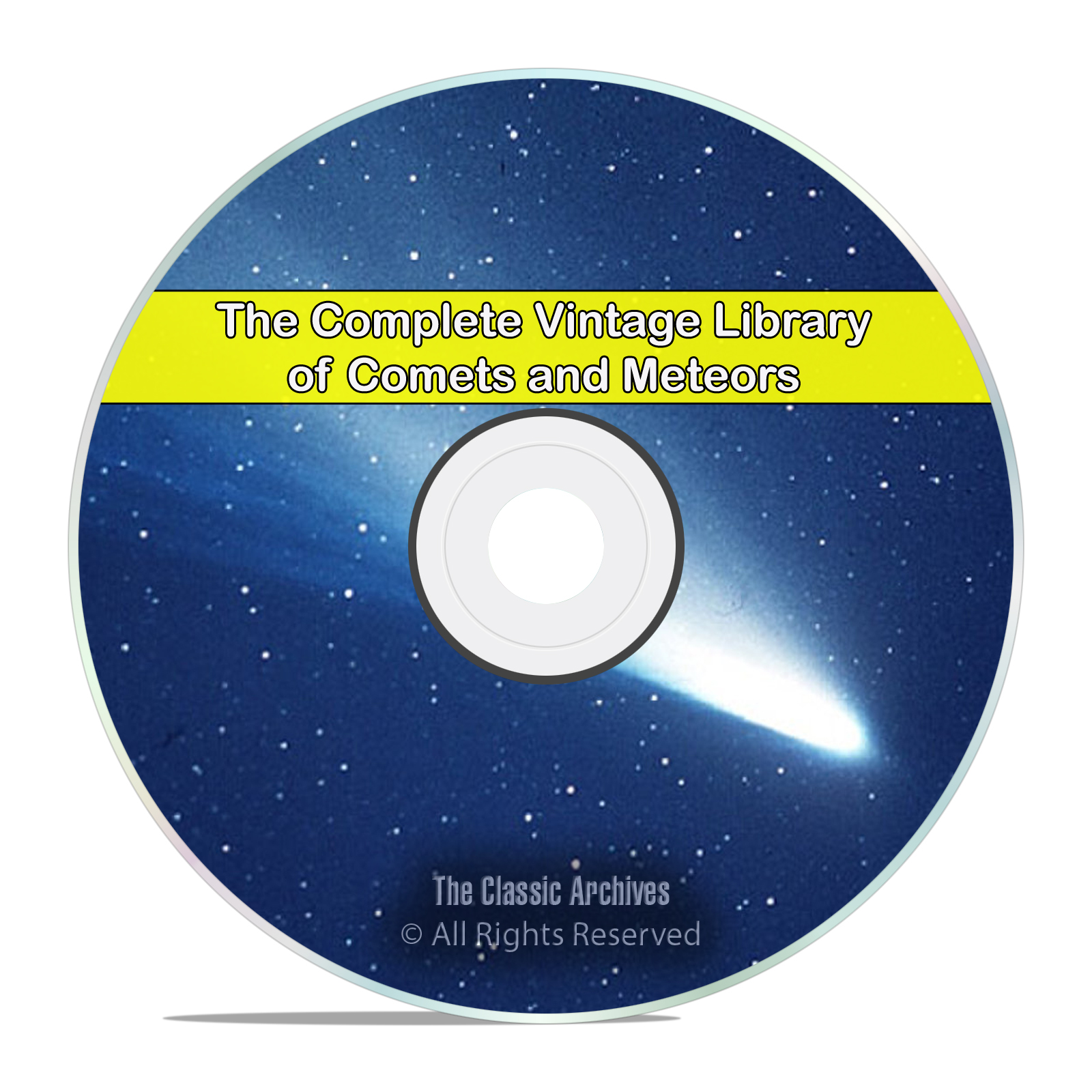 Library of Comets & Meteors, 76 Books on Astronomy Meteorites Stars PDF DVD