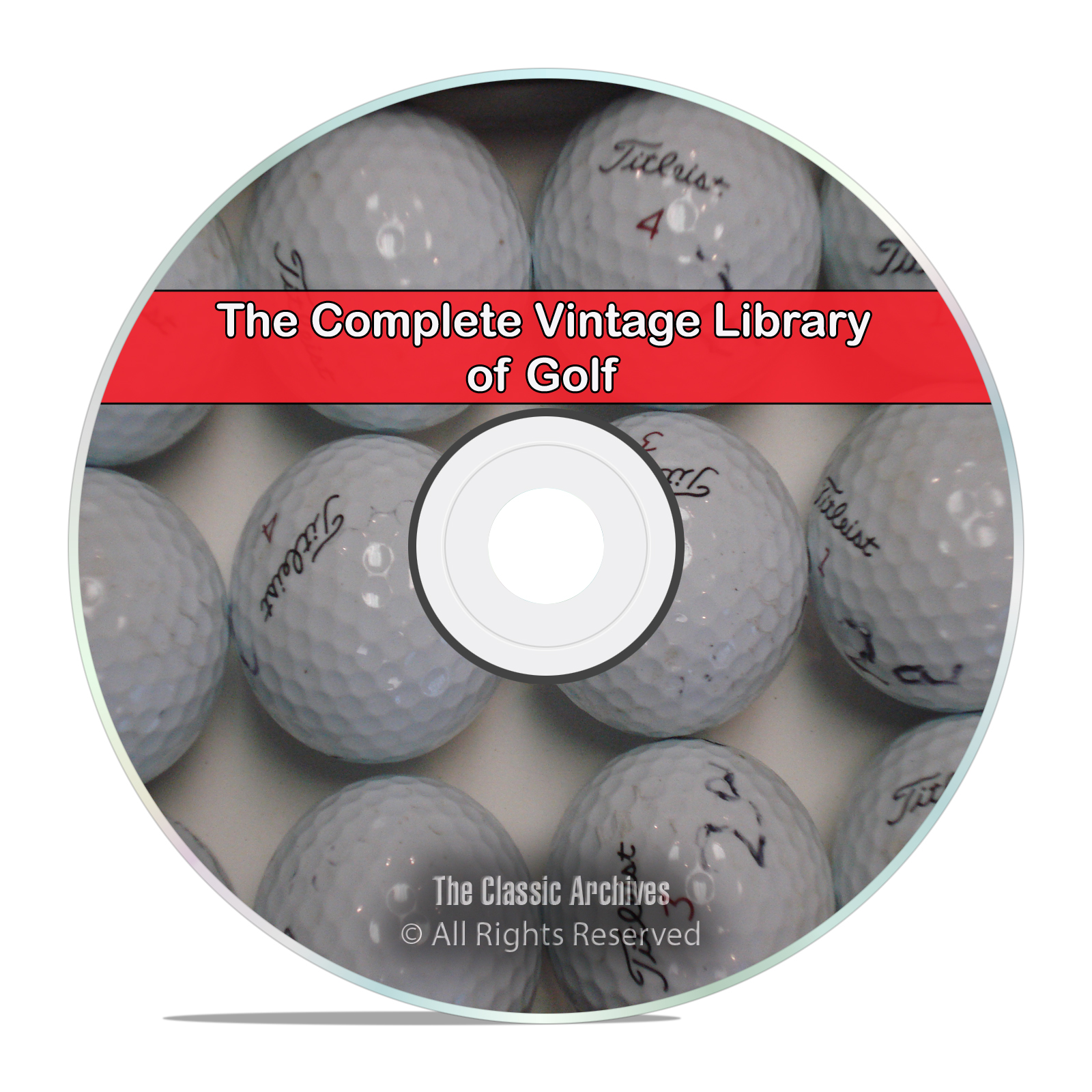 The Vintage Library on Golf, 90 Books, Spalding Guides, Ball, Club, PDF DVD