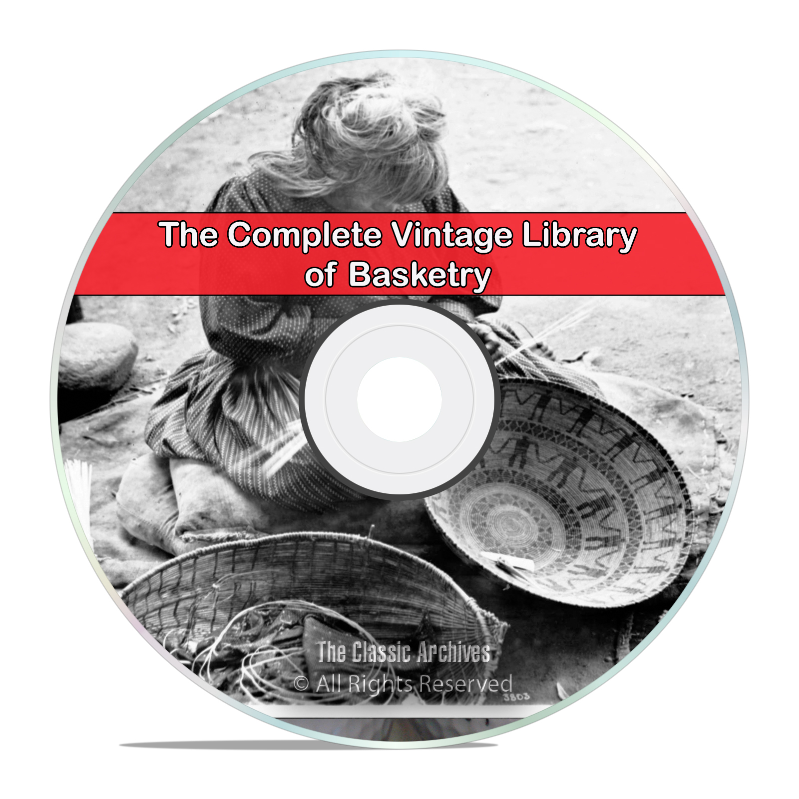 Library of Baskets & Basket Making, 44 Books, Basketry, Weaving, PDF CD