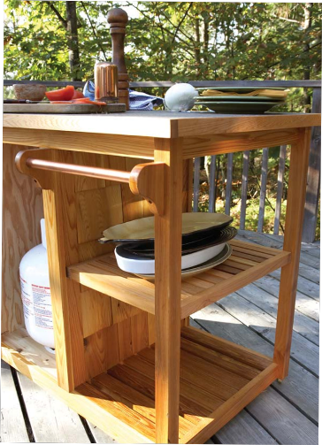 Bbq Side Table With Storage.Free Bbq Cart Wood Plans