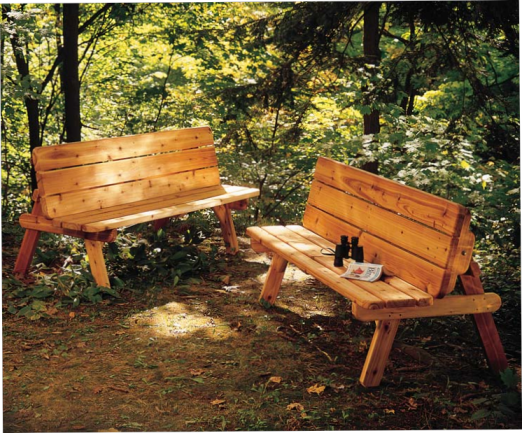 split bench picnic table plans