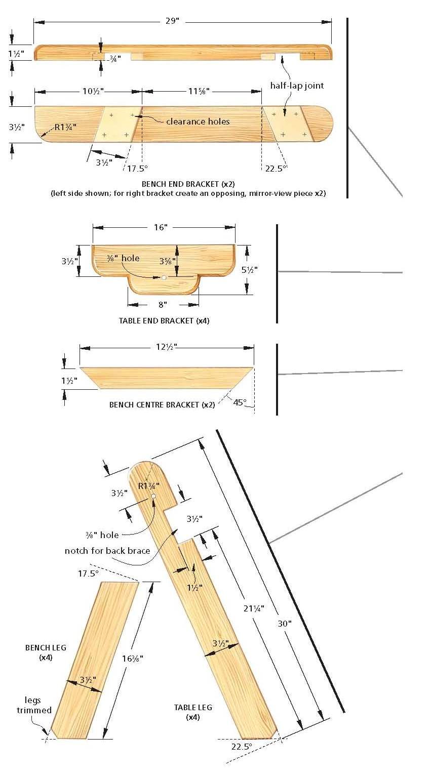 free picnic table wood plans