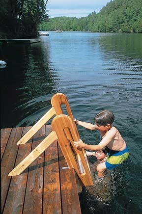 free wood swimming ladder wood plans