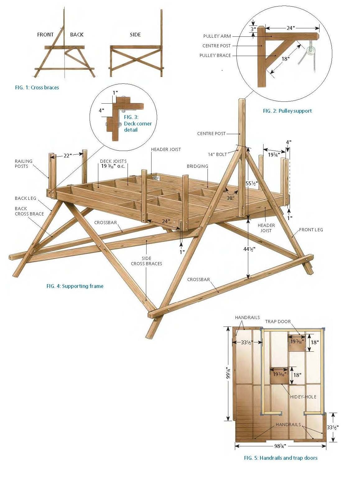 Building a easy treehouse home design and decor reviews for Free building plans