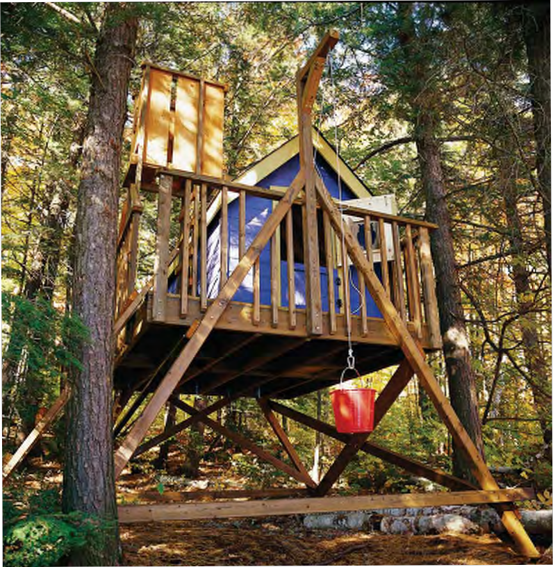 Free deluxe tree house plans for Free treehouse plans