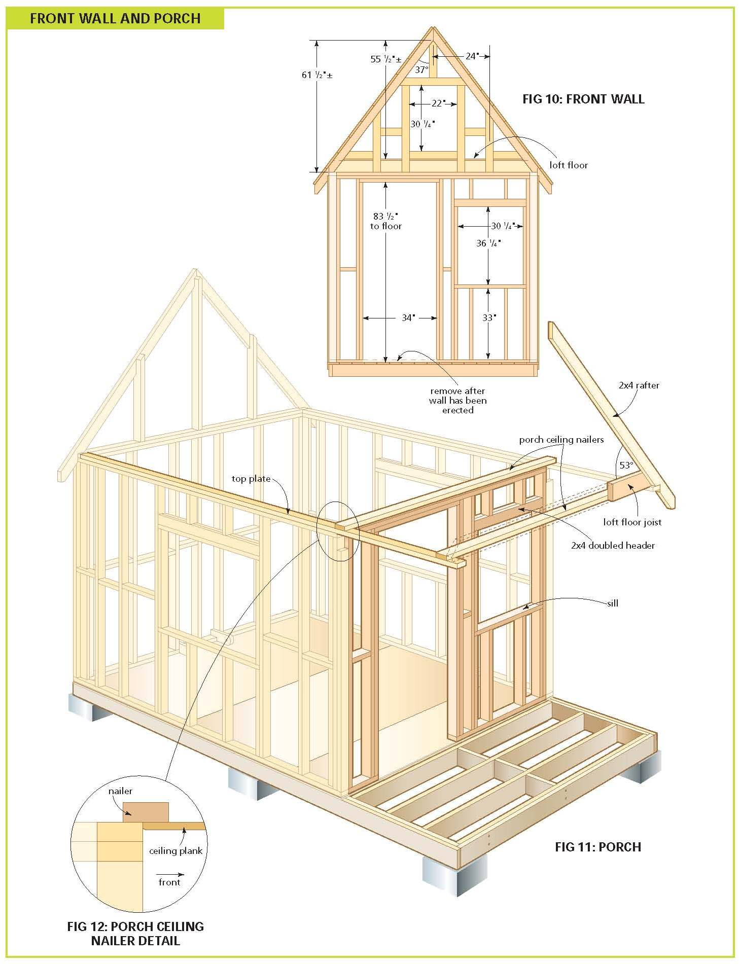 Free wood cabin plans free step by step shed plans for Free barn plans with loft