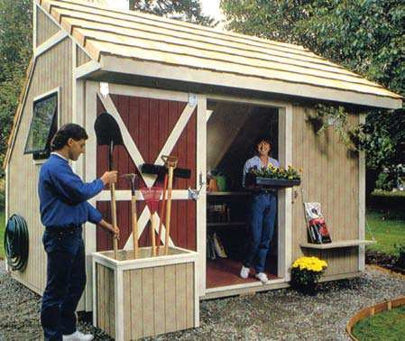 free garden storage shed plans
