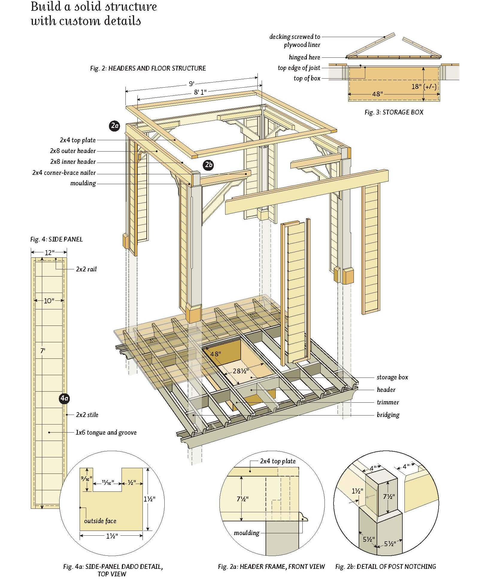 Guide free bed free woodworking plans and patterns diy simple woodworking - Build rectangular gazebo guide models ...