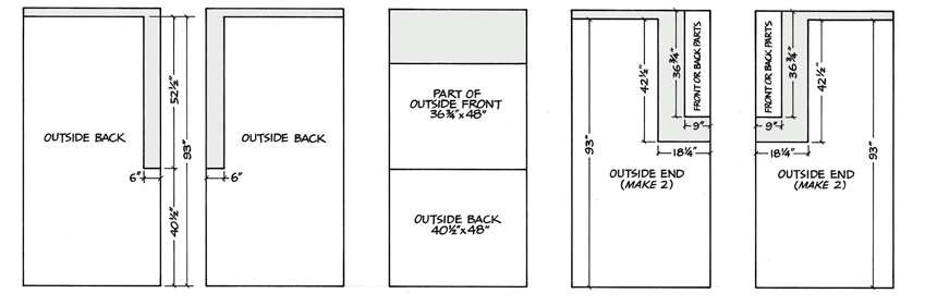 free outdoor kitchen pavilion shed plans