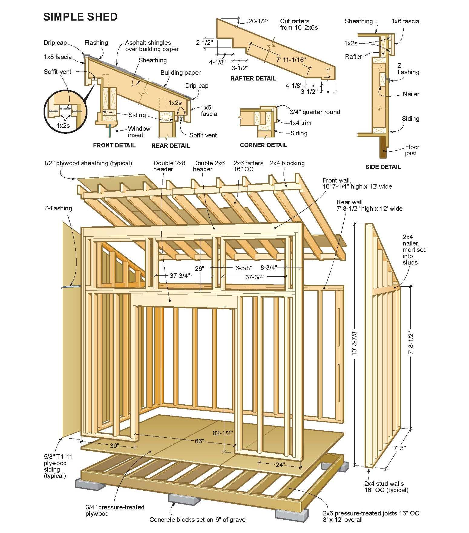 diy wood design plans for equipment shed