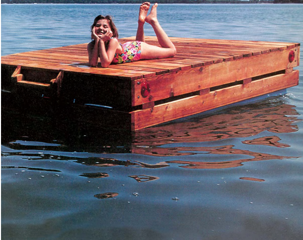 free swim raft wood plans