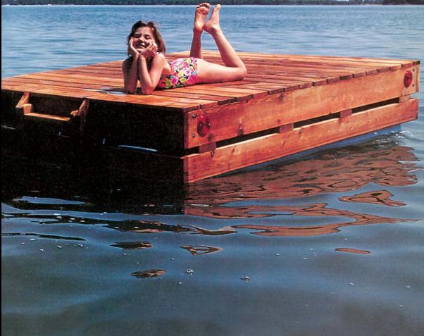 free swim raft wood plans