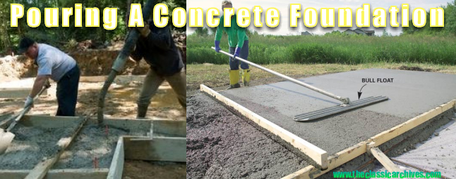 pouring a concrete foundation shed plans