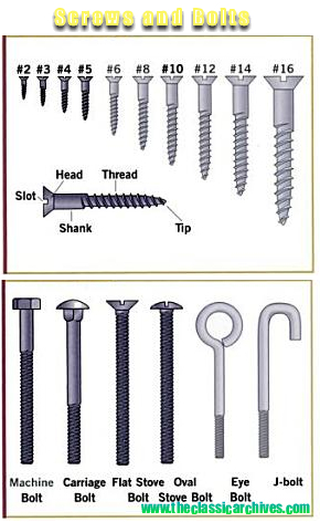 screws and bolts for shed plans