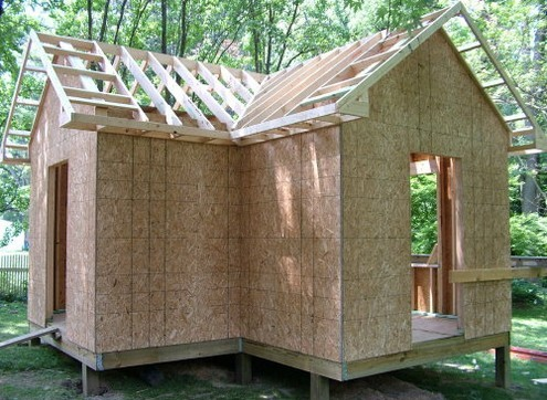 stick framed shed