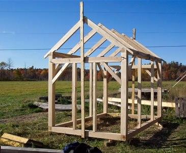 timber framed shed