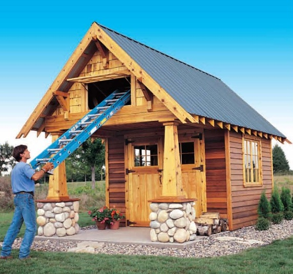 Two story shed playhouse plans woodideas for Playhouse with garage plans