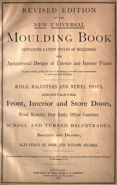 The New Universal Moulding Book, Vintage Woodworking Book, Download