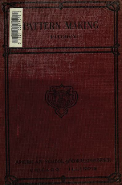 Pattern Making, 1902, Vintage Woodworking Book Download
