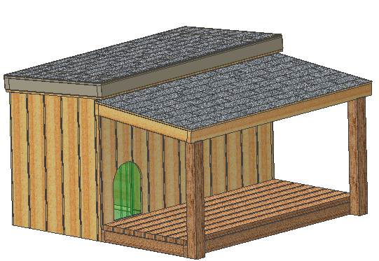 Insulated dog house plans our complete set of plans for Dog kennel floor plans