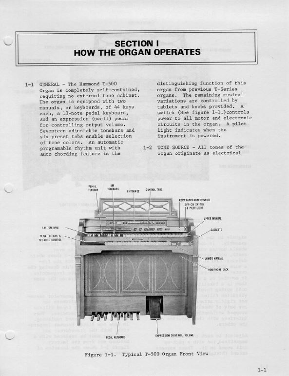 Hammond Organ Service Manual Library