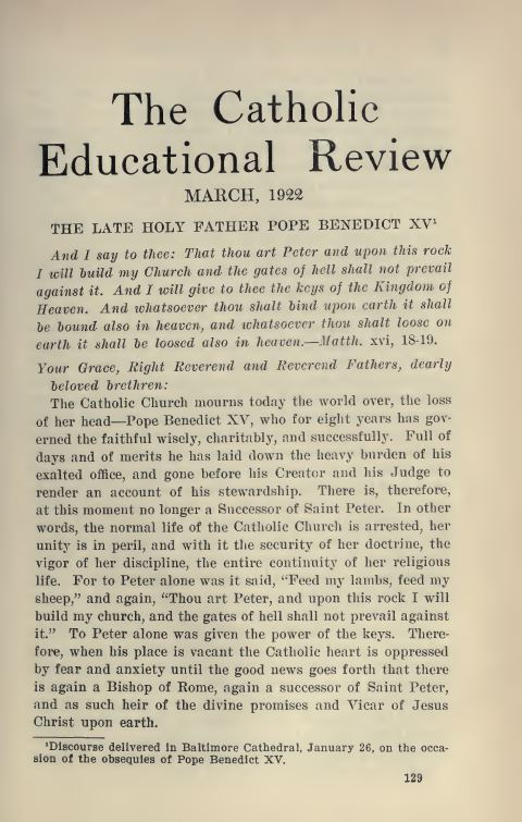 The Catholic Educational Review
