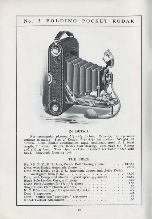 History of Kodak Cameras