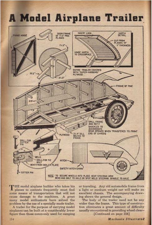 Vintage trailer plans