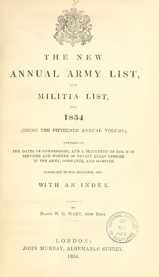 British Army Lists
