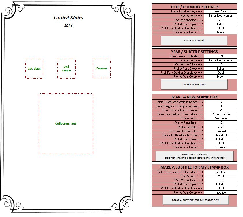 Stamp Album Page Maker