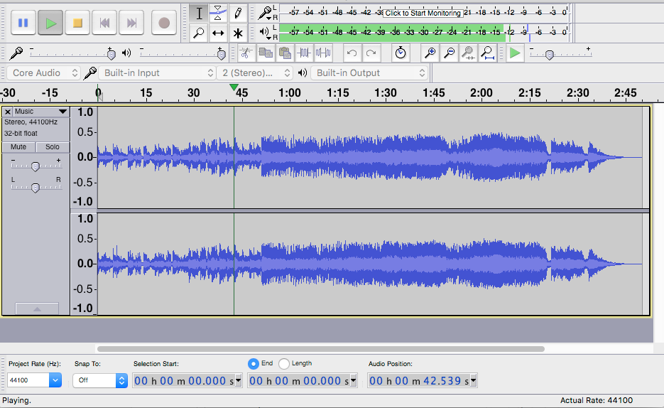 Audacity sound recording