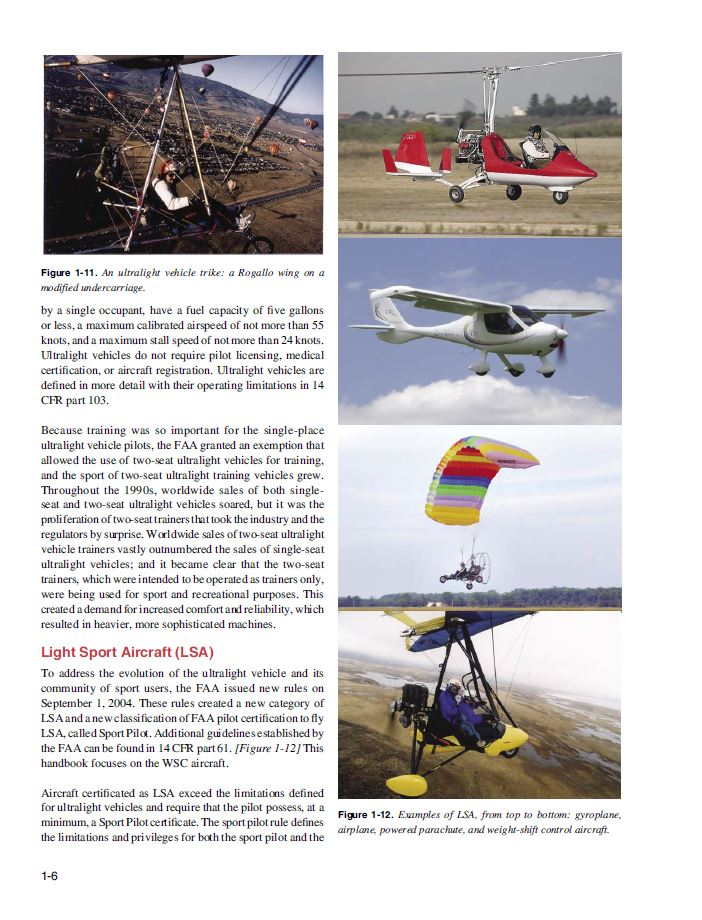 Ultralight Trike Aircraft Flying Handbook Hobby Airplanes Weight