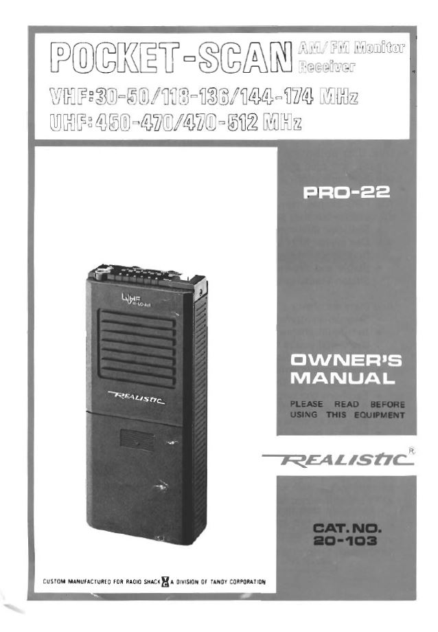 radio shack dx 394 service manual
