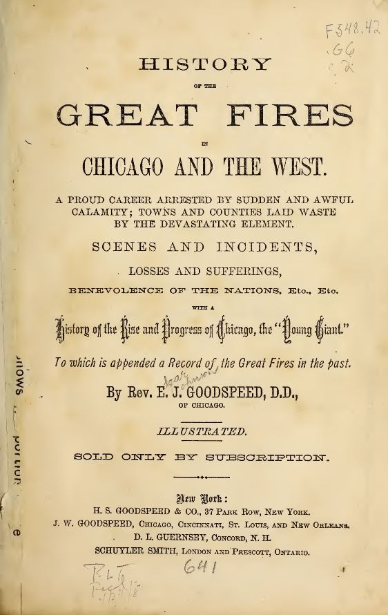 a personal narrative on the fire in chicago The personal narrative of jonathan edwards is quite different from his other works the firebrand who wrote sinners in the hands of an angry god turns introspective, and examines the theme of man's high expectations and low nature, and the extreme emotional swings one experiences in a personal relationship with god.