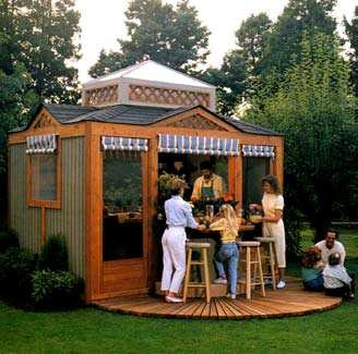 Free Outdoor Kitchen Pavilion Wood Plans Step By