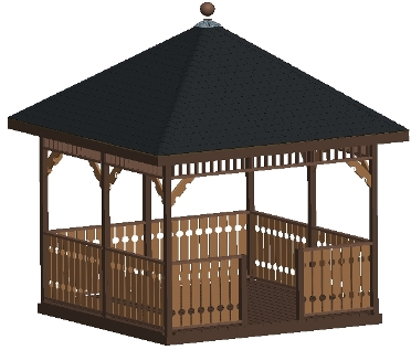 Gazebo plan design mega pack 13 different designs craft for Gazebo house plans