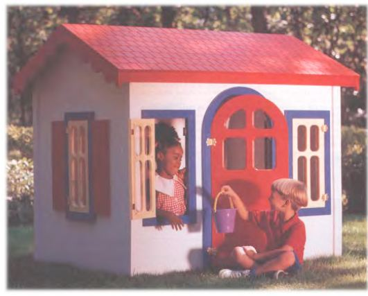 kids country cottage wood plans