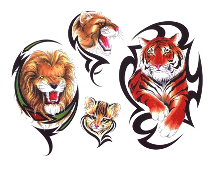 Tigers Tattoo Flash