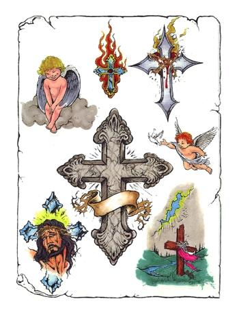 Cross Tattoo Flash