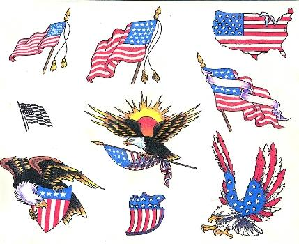 Patriotic Tattoo Flash