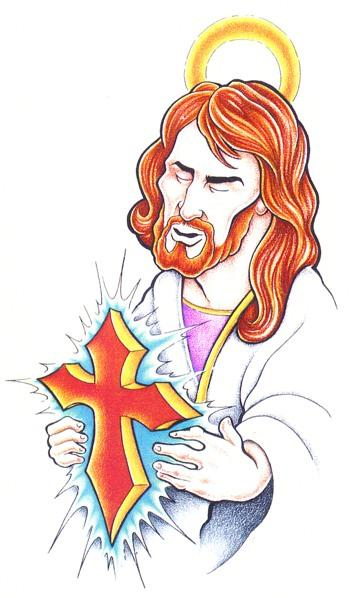Jesus Tattoo Flash